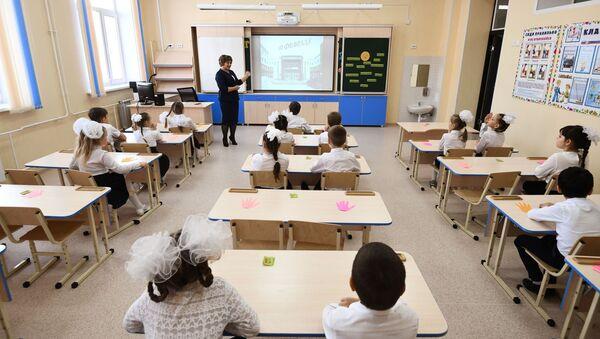 Una escuela en Rusia (imagen referencial) - Sputnik Mundo