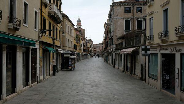 La calle vacía de Venecia, Italia - Sputnik Mundo