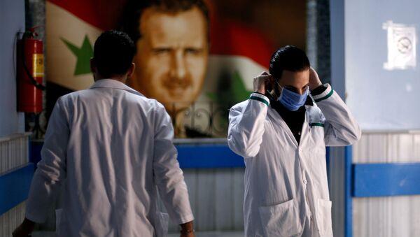 Médicos en un hospital de Damasco, Siria - Sputnik Mundo