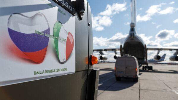 Aviones con ayuda rusa para combatir el coronavirus en Italia - Sputnik Mundo