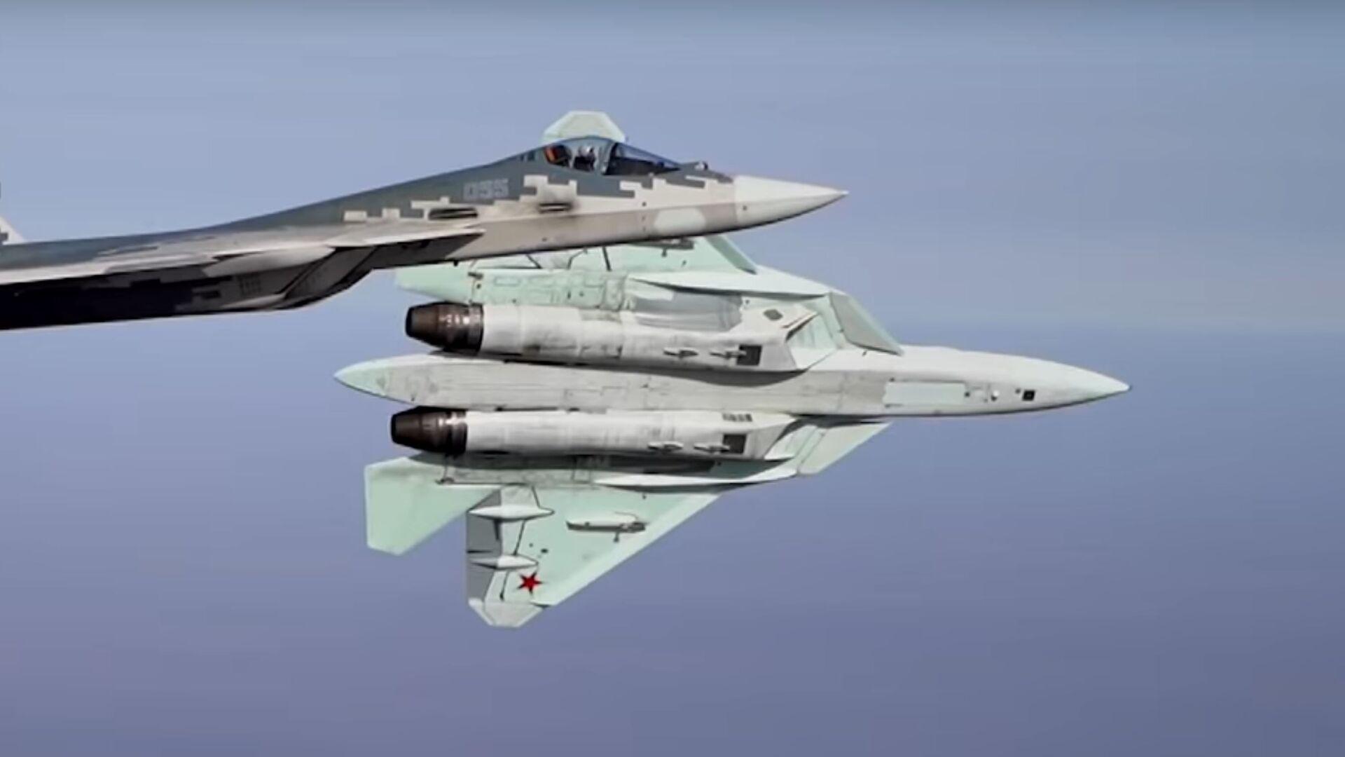 Los pilotos rusos llevan al límite los cazas Su-57  - Sputnik Mundo, 1920, 12.03.2021