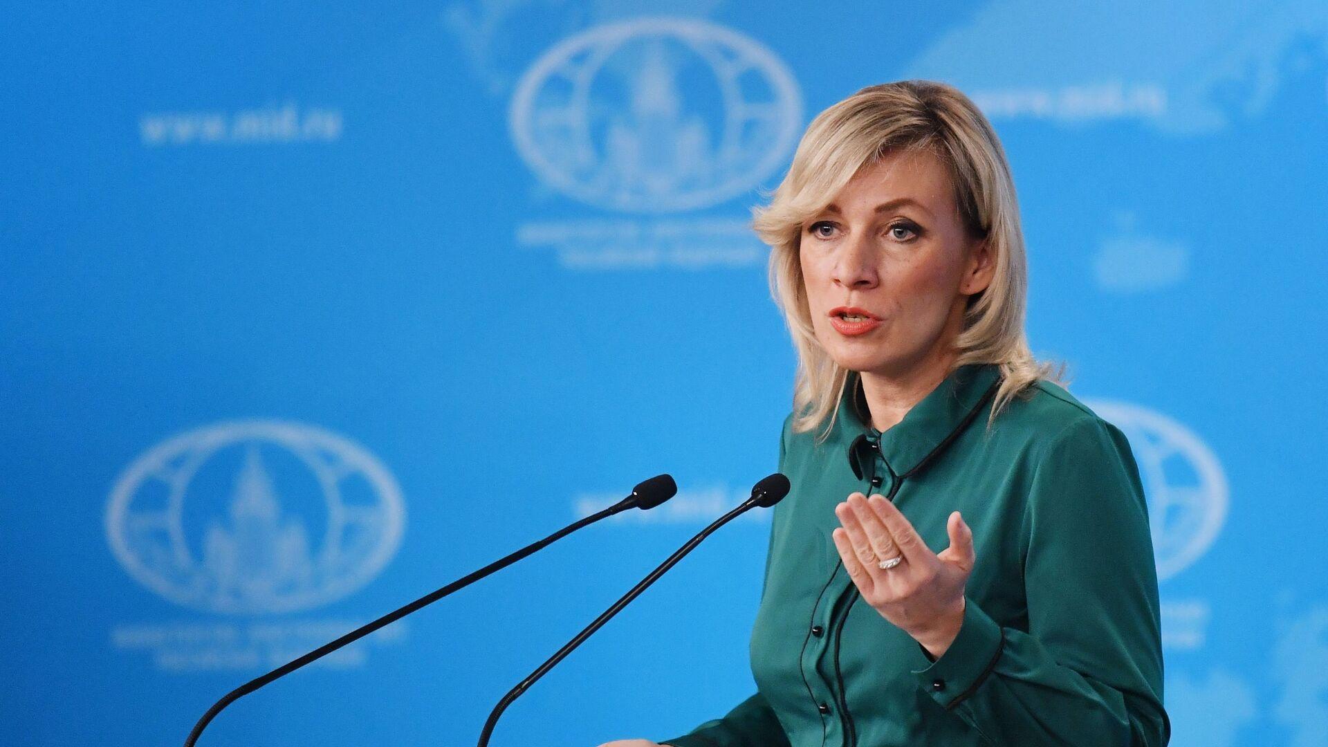 María Zajárova, portavoz del Ministerio de Asuntos Exteriores de Rusia - Sputnik Mundo, 1920, 14.10.2021