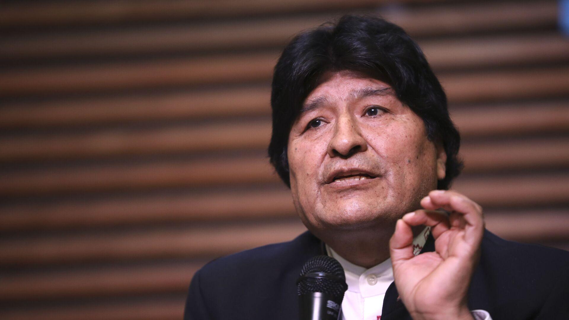 Evo Morales, expresidente boliviano - Sputnik Mundo, 1920, 12.08.2021