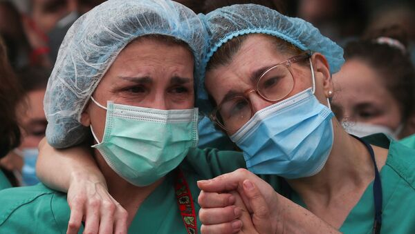 Enfermeras españolas (imagen referencial) - Sputnik Mundo