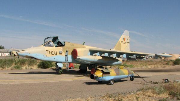 Un Su-25 de la Fuerza Aérea de la República de Chad - Sputnik Mundo