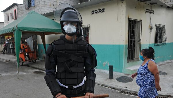 Policía en Guayaquil, Ecuador - Sputnik Mundo