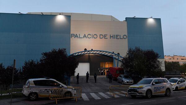 El Palacio de Hielo de Madrid, durante la pandemia de COVID-19 en España - Sputnik Mundo