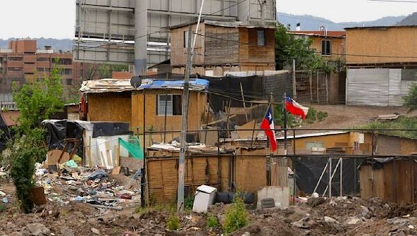 Campamento en Chile - Sputnik Mundo