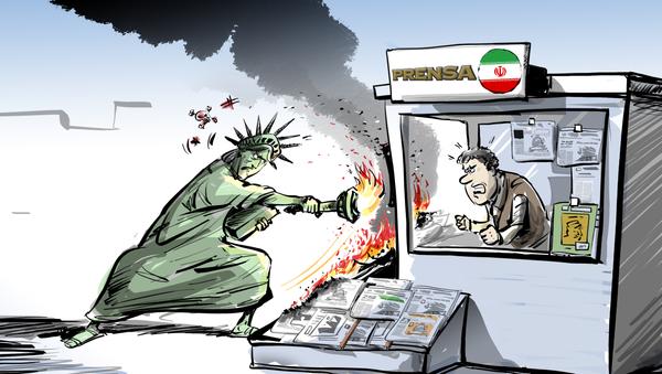 Terrorismo mediático: el Departamento del Tesoro de EEUU bloquea dominios web de medios iraníes  - Sputnik Mundo
