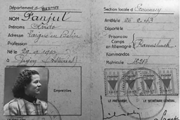 Carnet de Olvido Fanjul de pertenencia a la Federación Nacional de Deportados - Sputnik Mundo