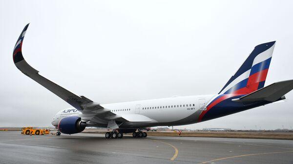 Presentación del primer Airbus A350-900 de la aerolínea rusa, Aeroflot - Sputnik Mundo
