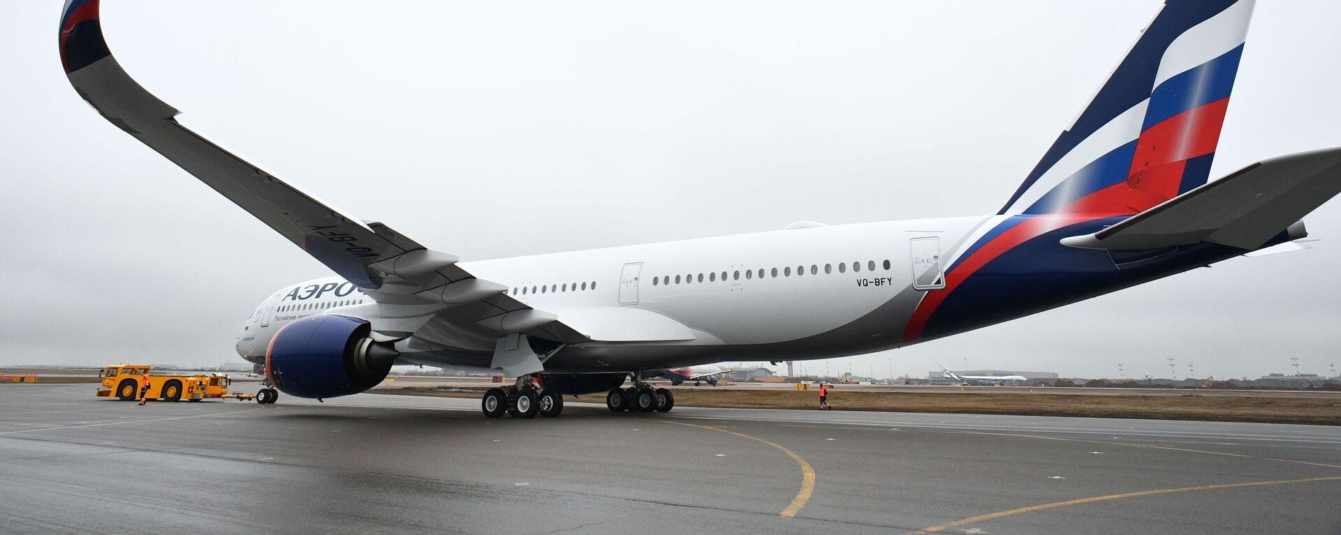 Presentación del primer Airbus A350-900 de la aerolínea rusa, Aeroflot - Sputnik Mundo, 1920, 09.09.2021
