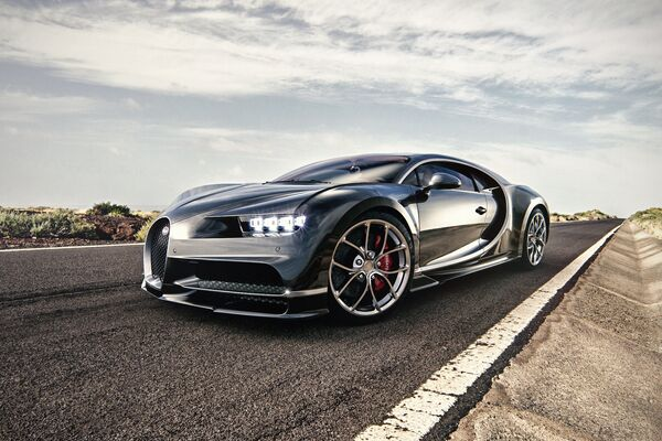 Un Bugatti Chiron, imagen ilustrativa - Sputnik Mundo