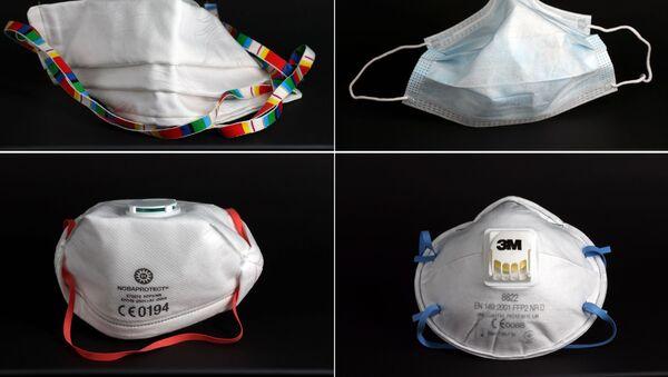 Cuatro mascarillas que se usan contra coronavirus - Sputnik Mundo
