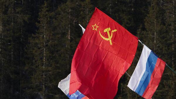 Banderas de la URSS y Rusia - Sputnik Mundo