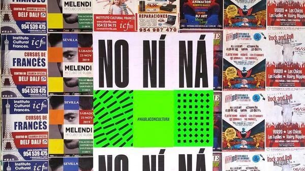 Un cartel con la expresión andaluza No ní ná - Sputnik Mundo