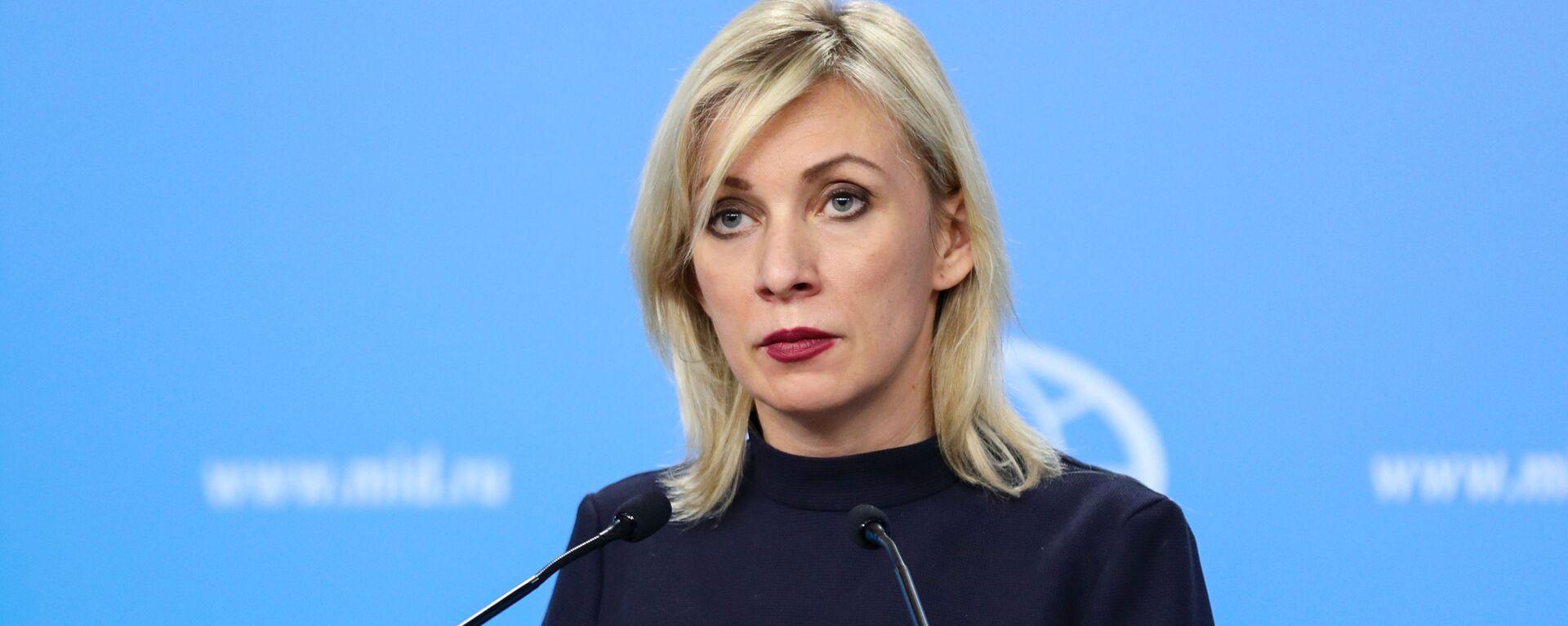 María Zajárova, portavoz del Ministerio de Exteriores de Rusia - Sputnik Mundo, 1920, 14.03.2021