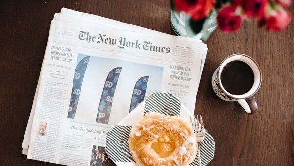 Un periódico The New York Times (imagen referencial)  - Sputnik Mundo