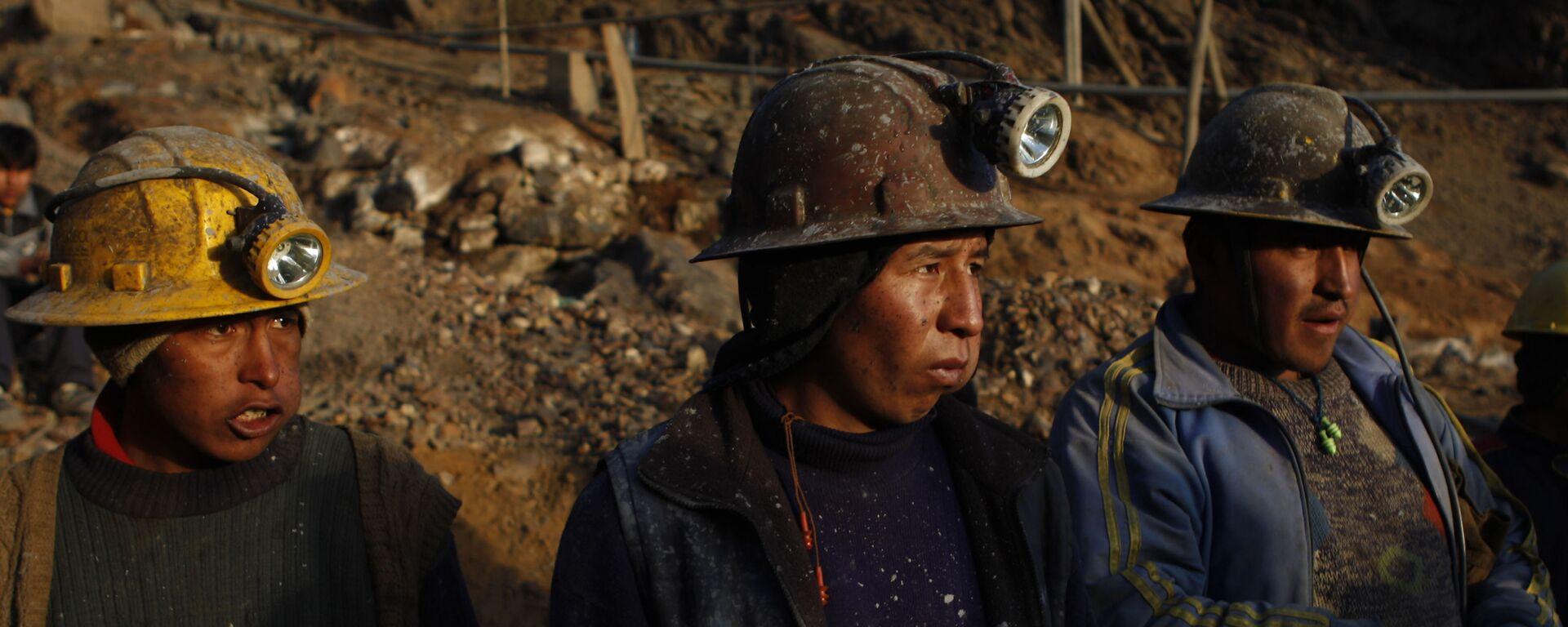 Mineros bolivianos - Sputnik Mundo, 1920, 14.08.2020