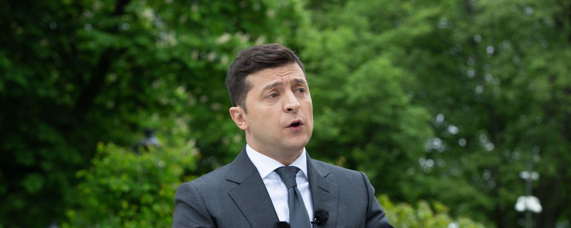 Volodímir Zelenski, presidente de Ucrania - Sputnik Mundo, 1920, 08.06.2021