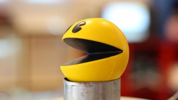 Una figura tridimensional de Pacman, el videojuego lanzado en 1980. Imagen referencial - Sputnik Mundo