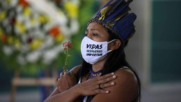 Mujer indígena de Brasil - Sputnik Mundo