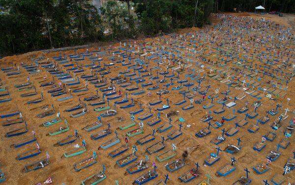Entierros masivos Brasil - Sputnik Mundo