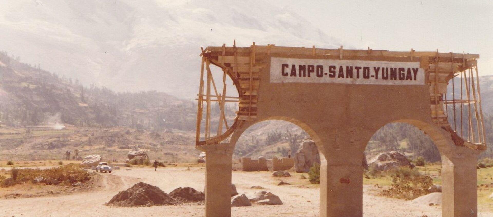 Ruinas del camposanto de la ciudad de Yungay, Perú, aplastada por un aluvión en 1970. - Sputnik Mundo, 1920, 30.05.2020