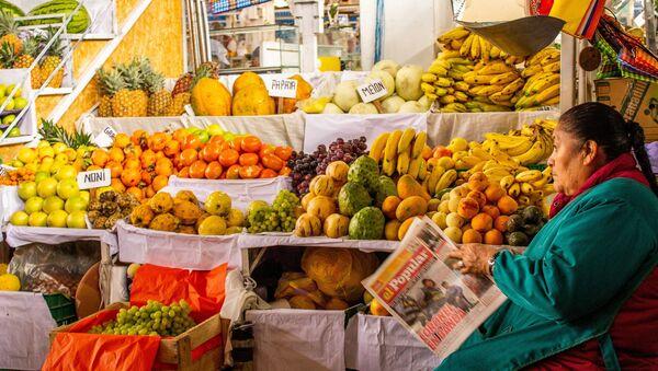 Una tienda de frutas en Perú - Sputnik Mundo