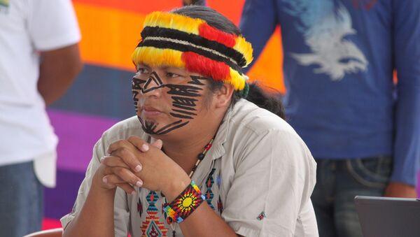 Un indígena ecuatoriano (imagen referencial) - Sputnik Mundo
