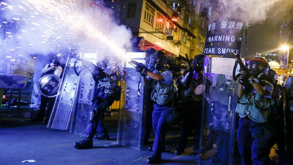 Protestas en Hong Kong (archivo) - Sputnik Mundo