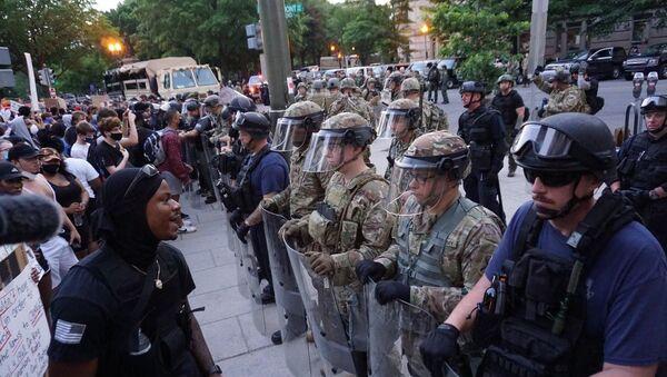 Protestas antirracistas en Washington, EEUU - Sputnik Mundo