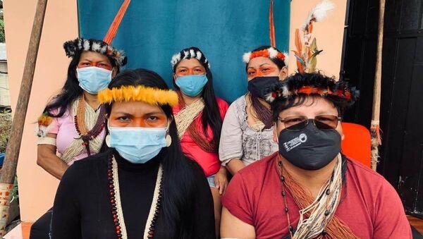 Indígenas amazónicos de la nacionalidad Waorani de Ecuador - Sputnik Mundo