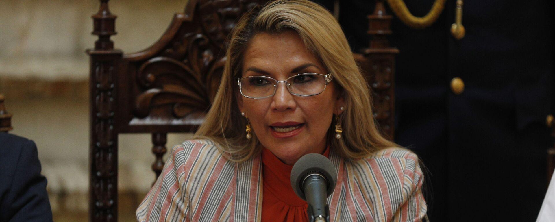Jeanine Áñez, presidenta transitoria de Bolivia - Sputnik Mundo, 1920, 22.07.2021
