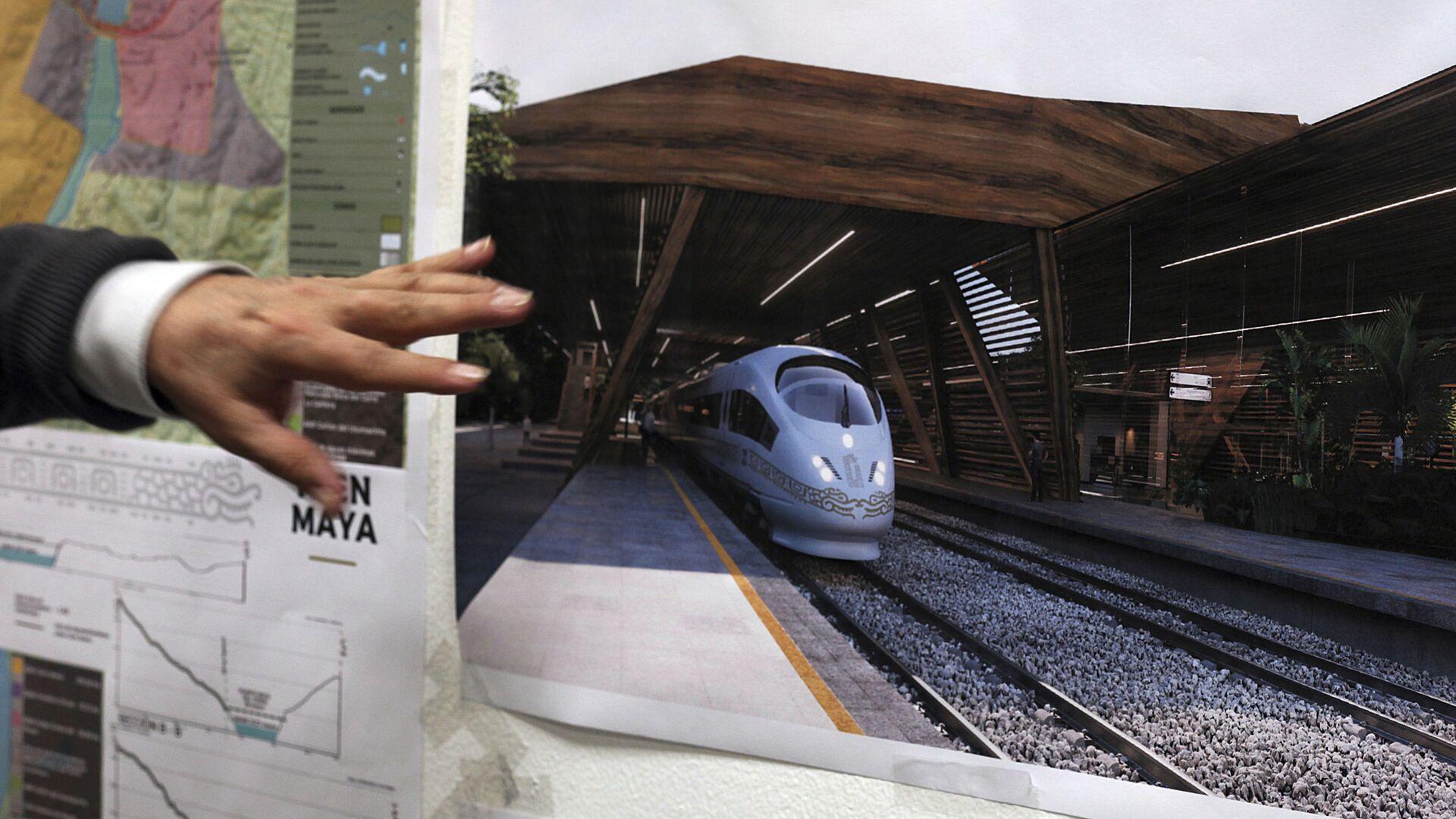 El plan de construcciones del Tren Maya - Sputnik Mundo, 1920, 30.09.2021