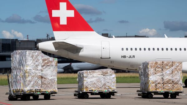 Ayuda humanitaria para Venezuela en Suiza - Sputnik Mundo