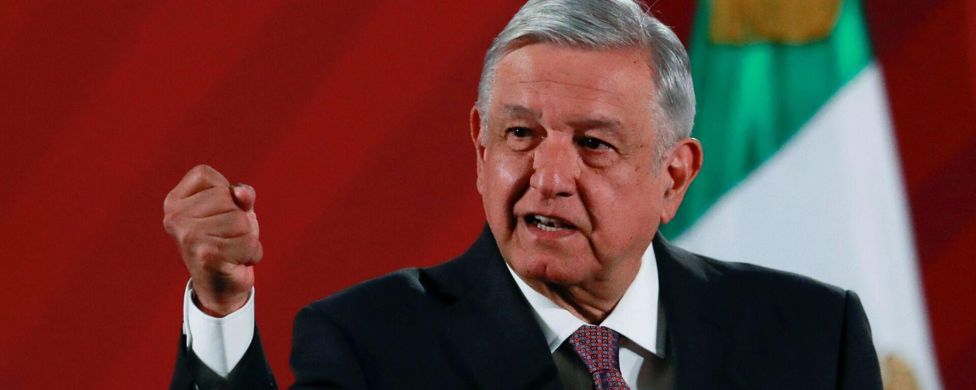 El presidente de México, Andrés Manuel López Obrador - Sputnik Mundo, 1920, 25.06.2020