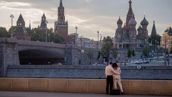 Vista general al Kremlin de Moscú y la Catedral de San Basilio - Sputnik Mundo