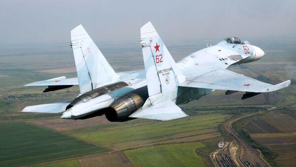 Un Su-27 (imagen referencial) - Sputnik Mundo