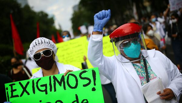 Protestas de los trabajadores de la Salud mexicanos - Sputnik Mundo