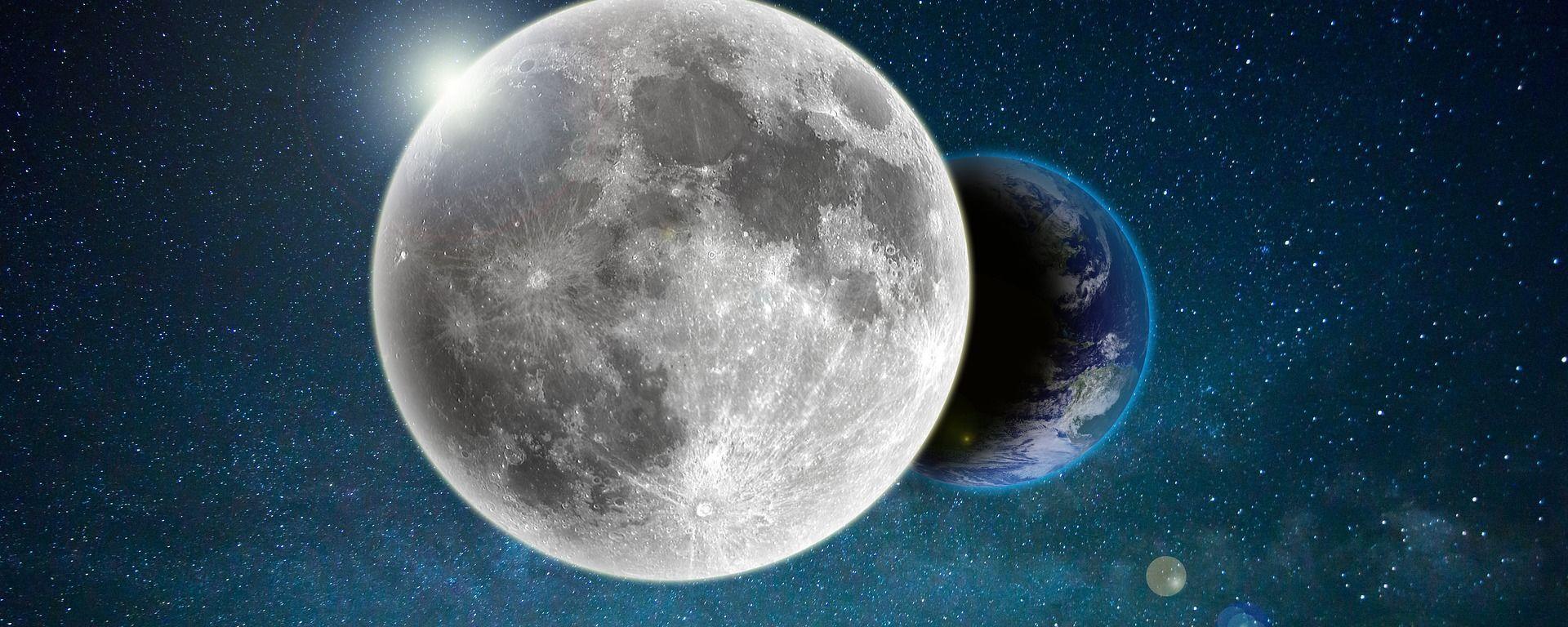 La Luna y la Tierra (ilustración) - Sputnik Mundo, 1920, 28.07.2020