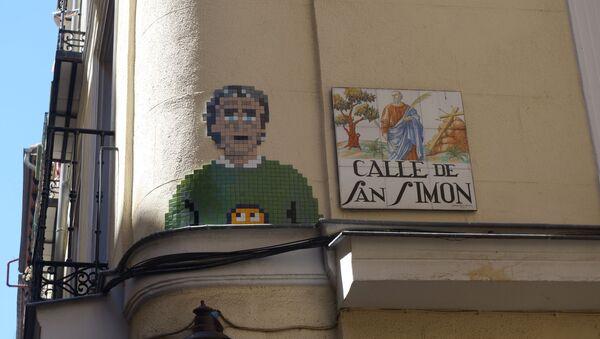 Mosaico a Fernando Simón en una calle de Madrid - Sputnik Mundo