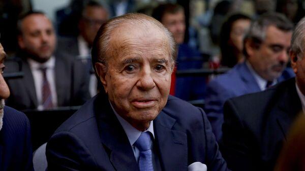 Carlos Saúl Menem, expresidente de Argentina - Sputnik Mundo