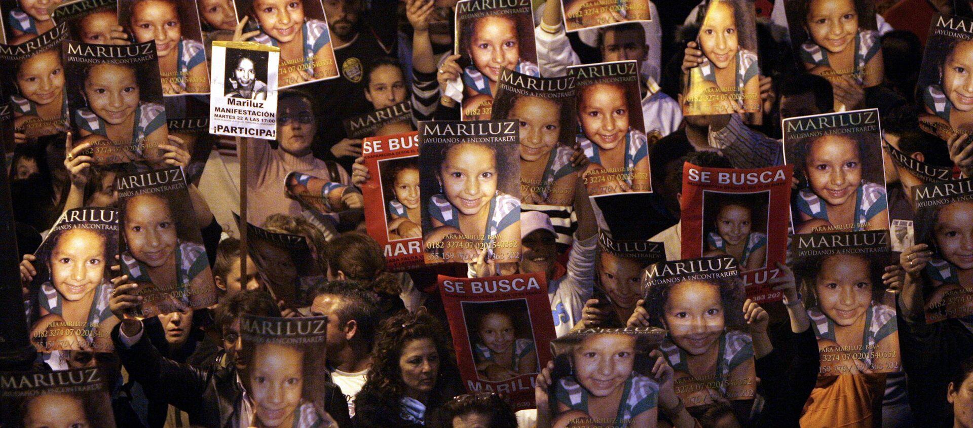 Manifestación de 2008 por la búsqueda de la niña Mari Luz Cortés, en Huelva  - Sputnik Mundo, 1920, 09.07.2020