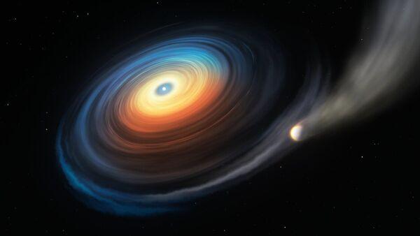 Una enana blanca y un exoplaneta  - Sputnik Mundo