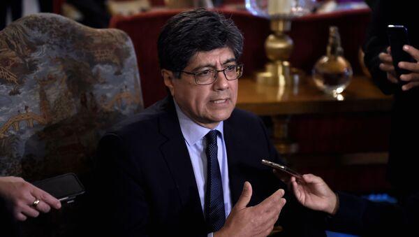 José Valencia, ministro de Relaciones Exteriores y Movilidad Humana de Ecuador - Sputnik Mundo