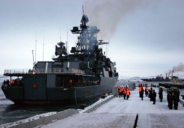 """El destructor antisubmarino """"Almirante Lévchenko"""". Archivo - Sputnik Mundo"""