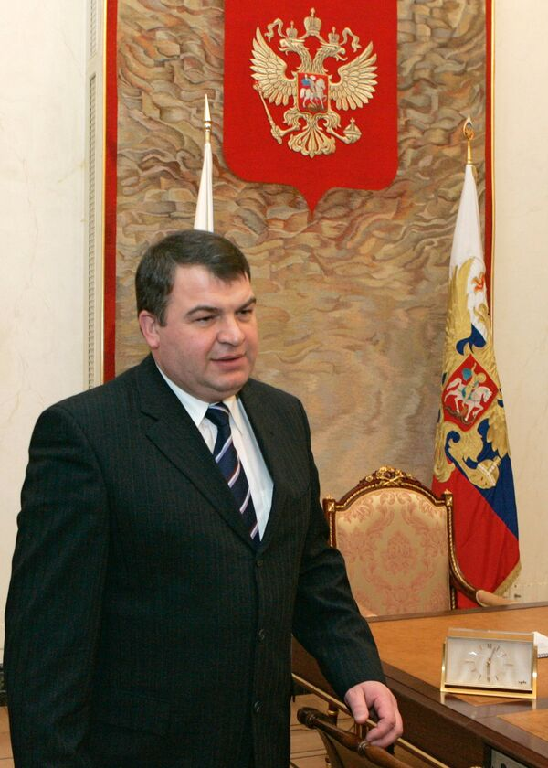 El ministro ruso de Defensa, Anatoli Serdiukov - Sputnik Mundo