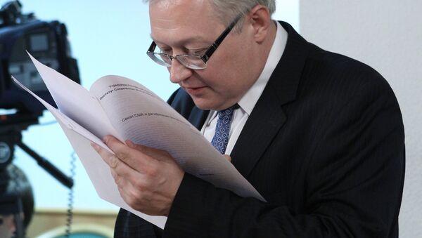 El viceministro de Asuntos Exteriores de Rusia, Serguei Riabkov - Sputnik Mundo