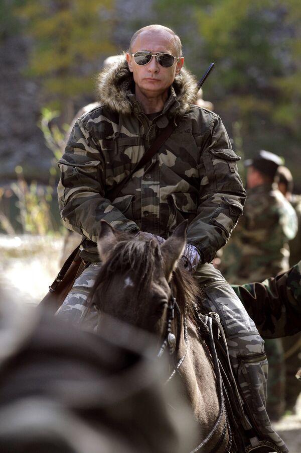 Vladímir Putin en la reserva natural en el sur de Siberia - Sputnik Mundo